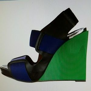 Marni colorblock wedges